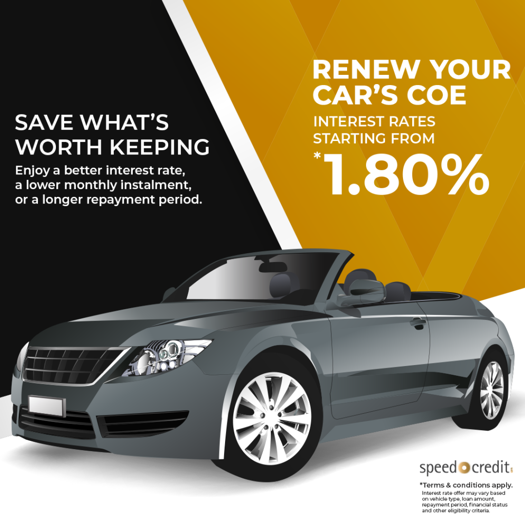COE Renewal Loan From 1.80% Interest Rate